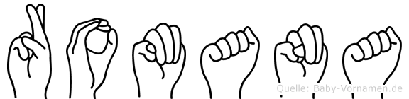 Romana in Fingersprache für Gehörlose