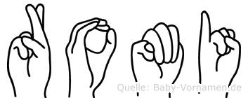 Romi im Fingeralphabet der Deutschen Gebärdensprache