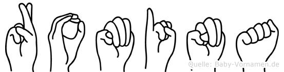 Romina in Fingersprache für Gehörlose