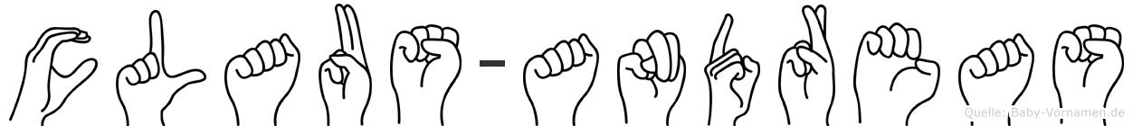 Claus-Andreas im Fingeralphabet der Deutschen Gebärdensprache