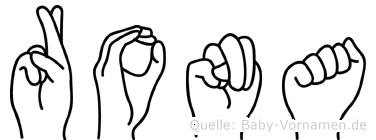 Rona in Fingersprache für Gehörlose