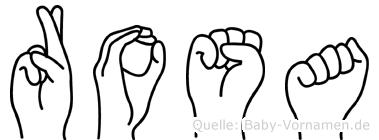Rosa in Fingersprache für Gehörlose
