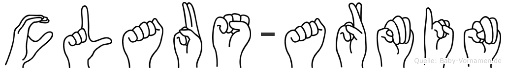 Claus-Armin im Fingeralphabet der Deutschen Gebärdensprache