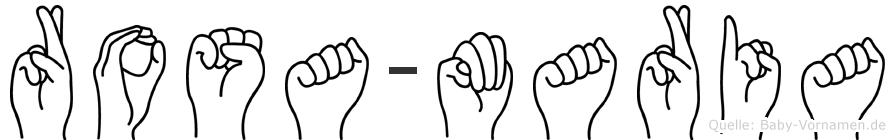 Rosa-Maria im Fingeralphabet der Deutschen Gebärdensprache