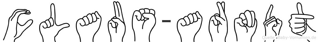 Claus-Arndt im Fingeralphabet der Deutschen Gebärdensprache