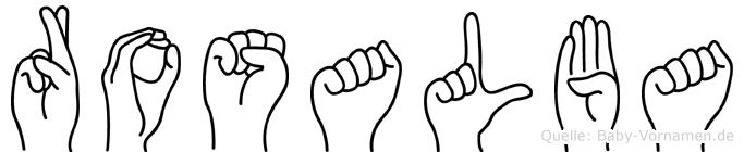 Rosalba in Fingersprache für Gehörlose