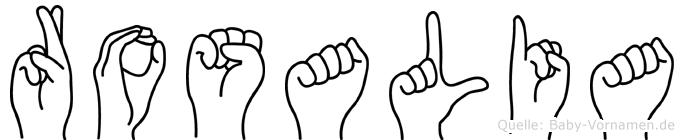 Rosalia in Fingersprache für Gehörlose