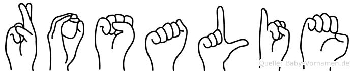 Rosalie in Fingersprache für Gehörlose