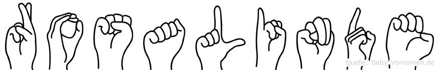 Rosalinde in Fingersprache für Gehörlose