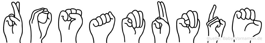 Rosamunde in Fingersprache für Gehörlose