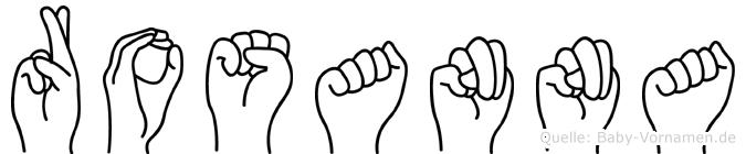 Rosanna in Fingersprache für Gehörlose
