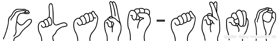 Claus-Arno im Fingeralphabet der Deutschen Gebärdensprache