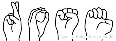 Rose in Fingersprache für Gehörlose