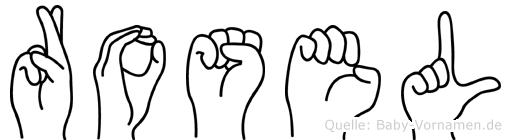 Rosel in Fingersprache für Gehörlose