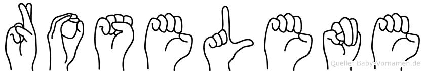 Roselene in Fingersprache für Gehörlose