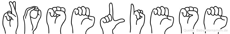 Roseliese in Fingersprache für Gehörlose