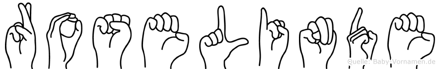 Roselinde in Fingersprache für Gehörlose