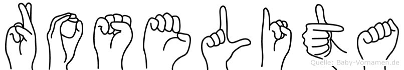 Roselita in Fingersprache für Gehörlose