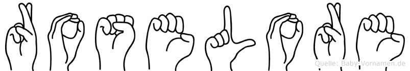 Roselore in Fingersprache für Gehörlose