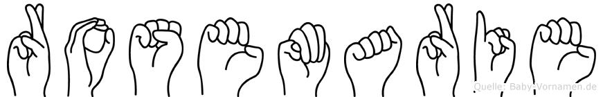 Rosemarie in Fingersprache für Gehörlose
