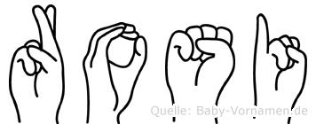 Rosi im Fingeralphabet der Deutschen Gebärdensprache