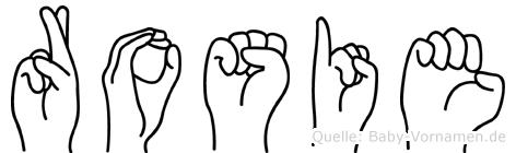 Rosie in Fingersprache für Gehörlose