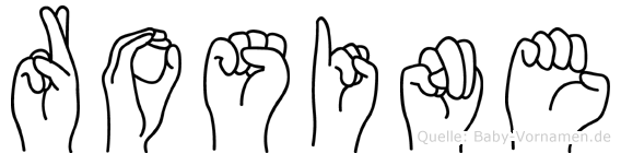 Rosine im Fingeralphabet der Deutschen Gebärdensprache