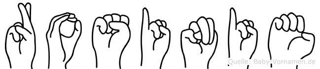 Rosinie in Fingersprache für Gehörlose