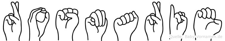 Rosmarie in Fingersprache für Gehörlose