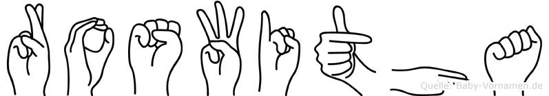 Roswitha im Fingeralphabet der Deutschen Gebärdensprache