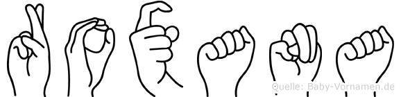Roxana im Fingeralphabet der Deutschen Gebärdensprache