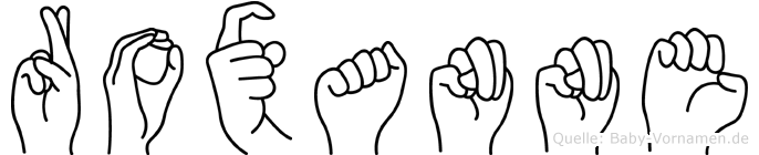 Roxanne in Fingersprache für Gehörlose