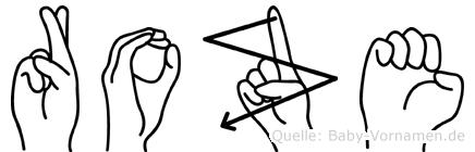 Roze in Fingersprache für Gehörlose