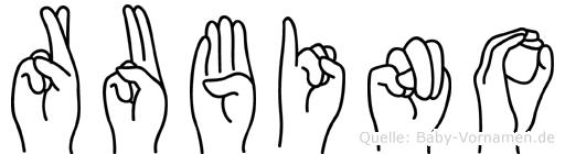 Rubino in Fingersprache für Gehörlose