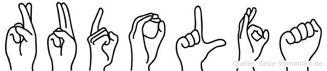 Rudolfa in Fingersprache für Gehörlose