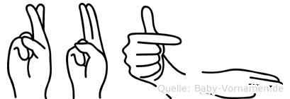 Ruth in Fingersprache für Gehörlose