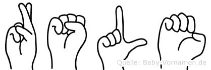 Rösle in Fingersprache für Gehörlose