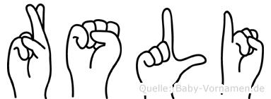 Rösli in Fingersprache für Gehörlose