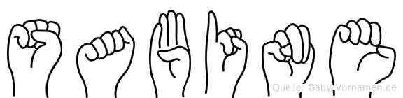 Sabine in Fingersprache für Gehörlose