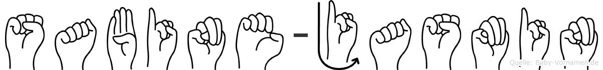 Sabine-Jasmin im Fingeralphabet der Deutschen Gebärdensprache