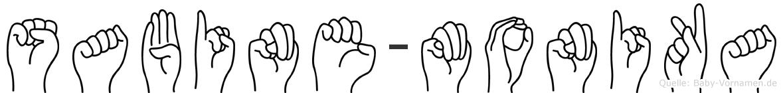 Sabine-Monika im Fingeralphabet der Deutschen Gebärdensprache
