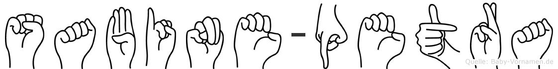 Sabine-Petra im Fingeralphabet der Deutschen Gebärdensprache