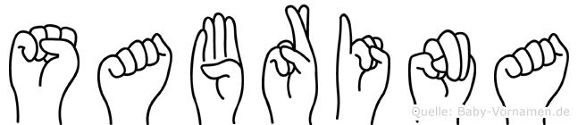 Sabrina in Fingersprache für Gehörlose