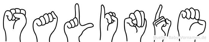 Salinde im Fingeralphabet der Deutschen Gebärdensprache