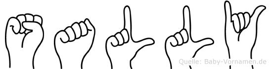 Sally in Fingersprache für Gehörlose