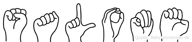 Salome in Fingersprache für Gehörlose