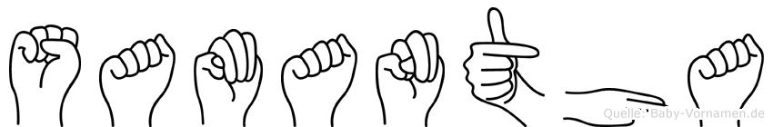 Samantha in Fingersprache für Gehörlose