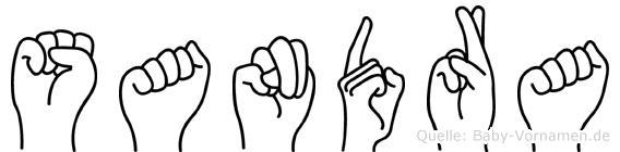 Sandra in Fingersprache für Gehörlose