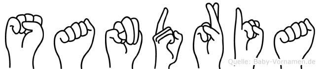 Sandria im Fingeralphabet der Deutschen Gebärdensprache