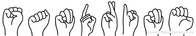 Sandrine im Fingeralphabet der Deutschen Gebärdensprache